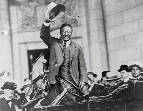 In 1904, Repubican Theodore Roosevelt ran against Democrat