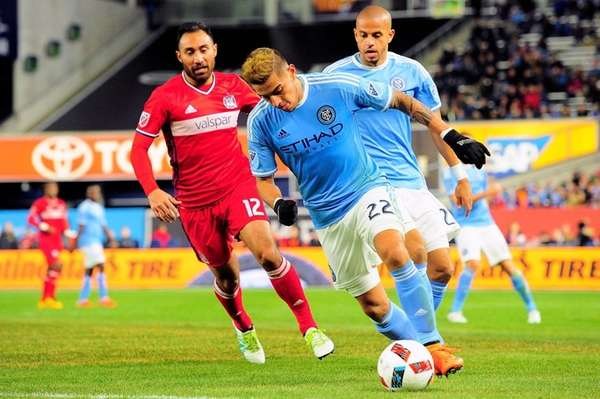 New York City FC defender Ronald Matarrita (22)