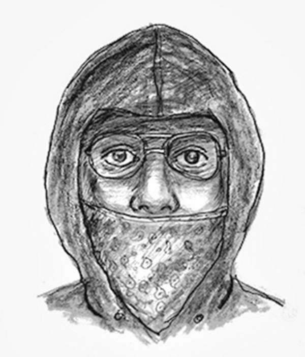 A police sketch of a man who is