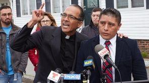 The Rev. Allan Ramirez, left, and Joselo Lucero