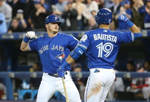 Josh Donaldson of the Toronto Blue Jays celebrates