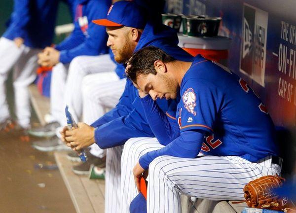 Steven Matz of the New York Mets sits