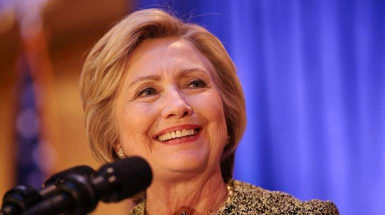 Democratic presidential candidate Hillary Clinton speaks Monday night