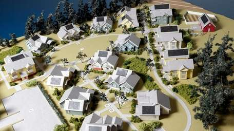 A completed, 3-D model, shown on Dec. 28,