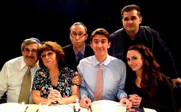 The cast of Beau Jest, playing at Theatre