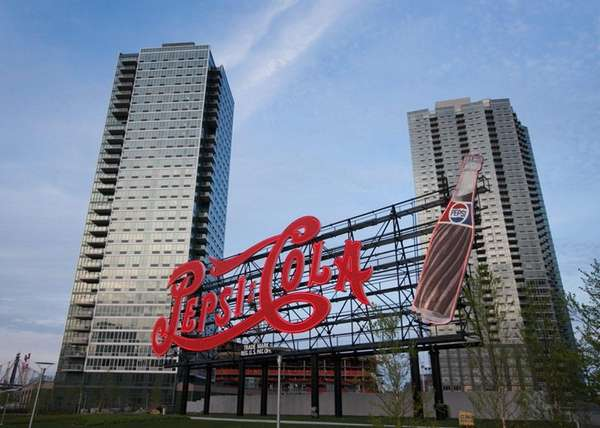 Pepsi Cola sign in Gantry Plaza State Park