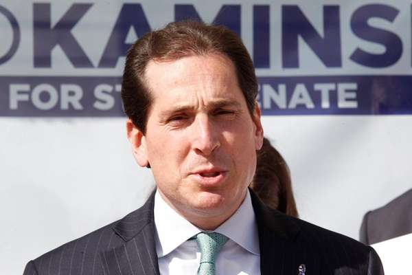 Democratic Senate candidate Todd Kaminsky speaks about Common