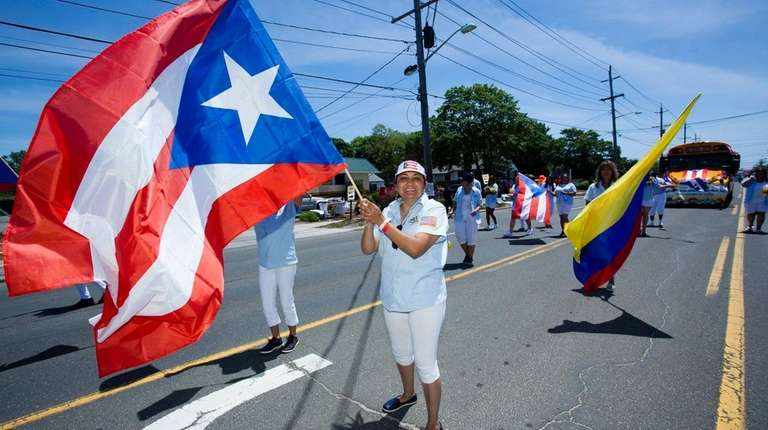 Participants in the 49th annual Puerto Rican/Hispanic Day
