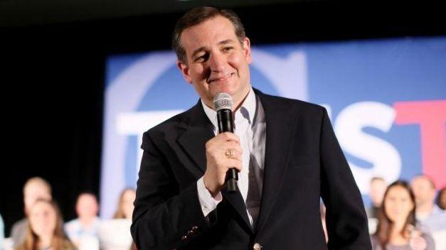 Republican presidential candidate Texas Sen. Ted Cruz speaks