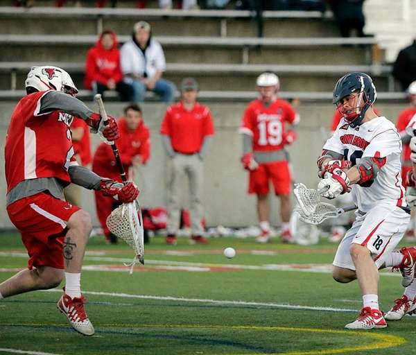 Stony Brook's Brody Eastwood, who scored three goals