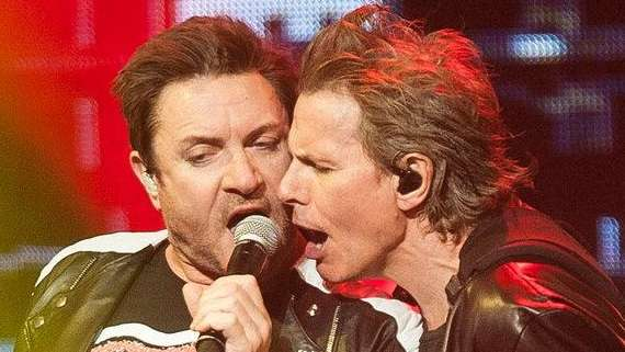 John Taylor and Simon Le Bon, of Duran