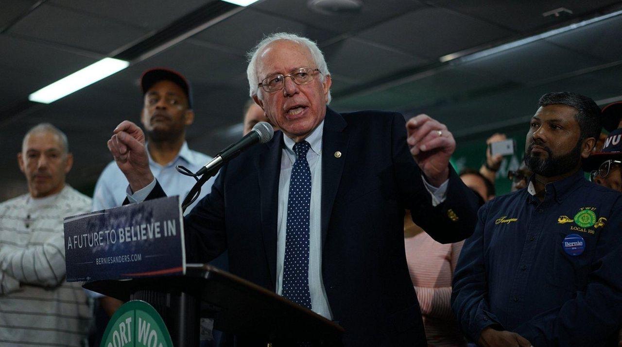 Sen. Bernie Sanders on Wednesday, April 13, 2016,