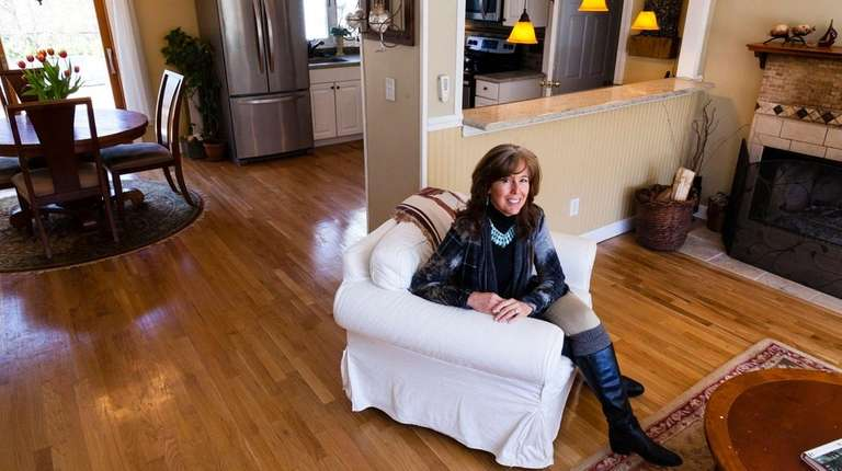 Owner Niki Haan in the living room of