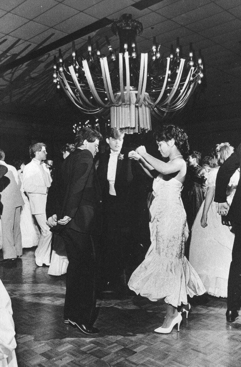 Guy Bebedetto and Sharon Aguam dance at Sachem