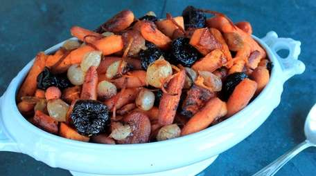 Baby-cut carrots, sweet potato, apricots, prunes and pear