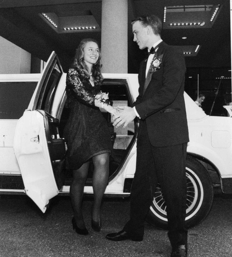 Joanna Tobin and Eric Koenig arrive at Sayville