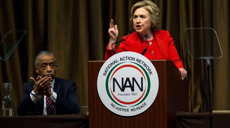 Democratic front-runnner Hillary Clinton railed against the GOP's