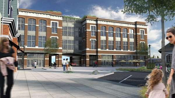 Artist's rendering of 20 Station Dr. in Wyandanch,