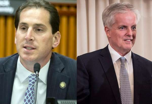 Candidates Todd Kaminsky and Chris McGrath.