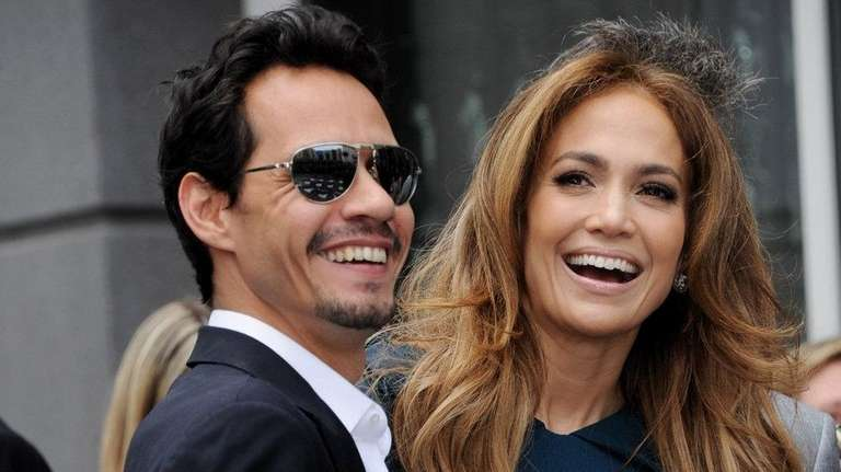 In happier times: Singer Marc Anthony and singer-actress