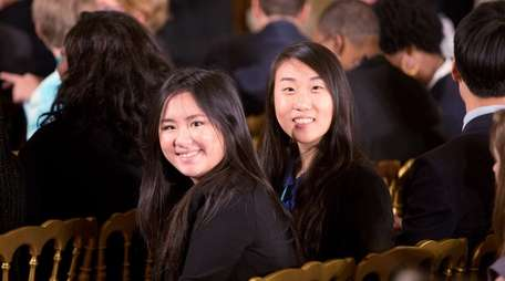 Manhasset Secondary School seniors Kimberly Te and Christine