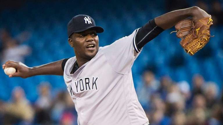 New York Yankees starting pitcher Michael Pineda (35)