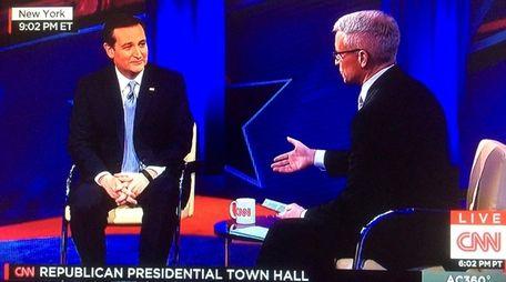 Republican presidential candidate Sen. Ted Cruz fields questions