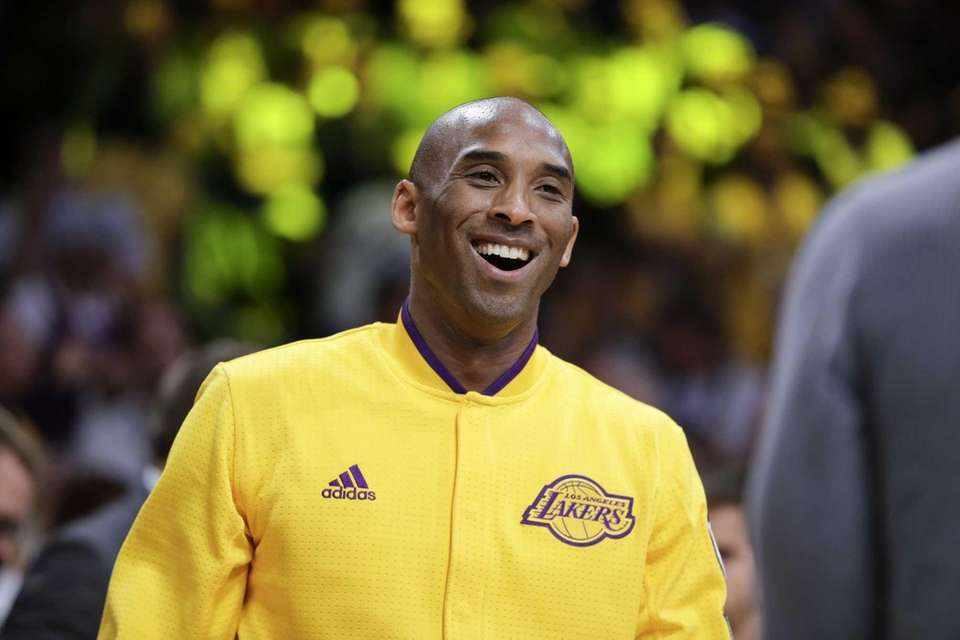 Los Angeles Lakers forward Kobe Bryant smiles to