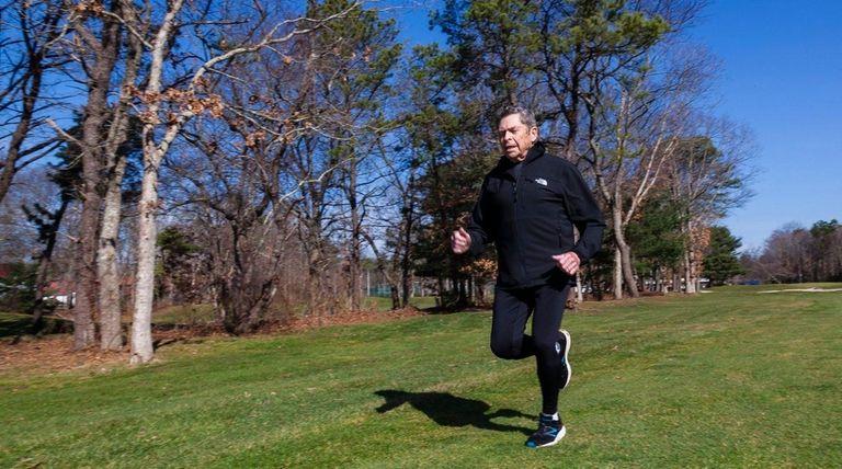 Jules Winkler goes for a run on the