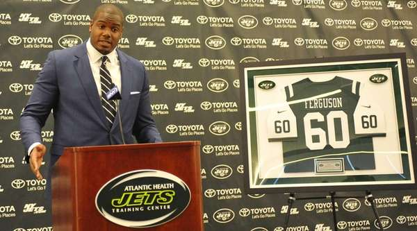 D'Brickashaw Ferguson of the New York Jets speaks