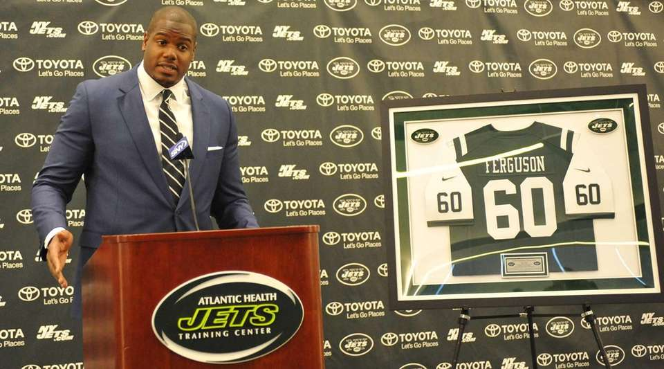 D'Brickashaw Ferguson of the New York Jets speaks