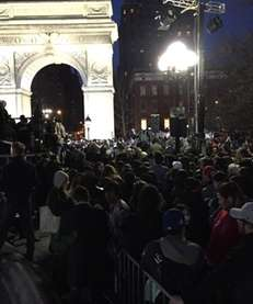 The Bernie Sanders rally in Washington Square