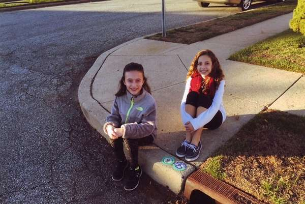 Kidsday reporters Tania Papanagnostou, left, and Ava D'Arduini