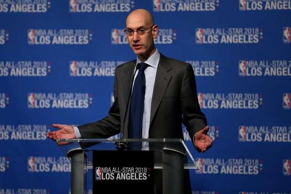 NBA commissioner Adam Silver announces that the 2018