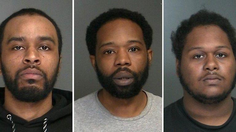 Three men arrested in a raid Thursday, April