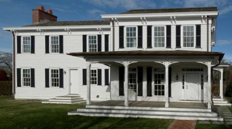 The historic but renovated Jessup Homestead, on the