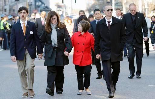 Family members of Boston Marathon bombing victim Martin