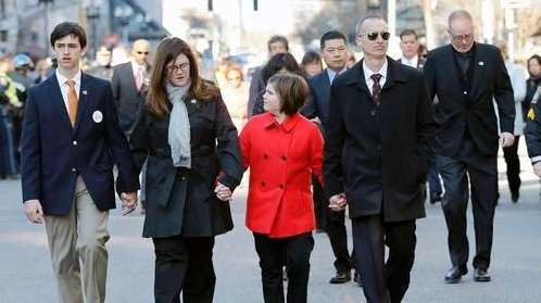 Family members of Boston Marathon bombing victim Martin