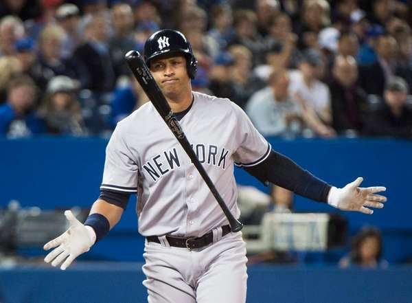 New York Yankees designated hitter Alex Rodriguez after