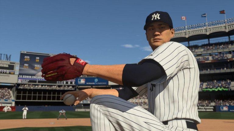 Yankees pitcher Masahiro Tanaka in MLB The Show