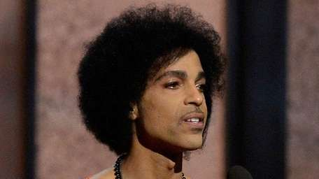 Recording artist Prince speaks onstage during The 57th