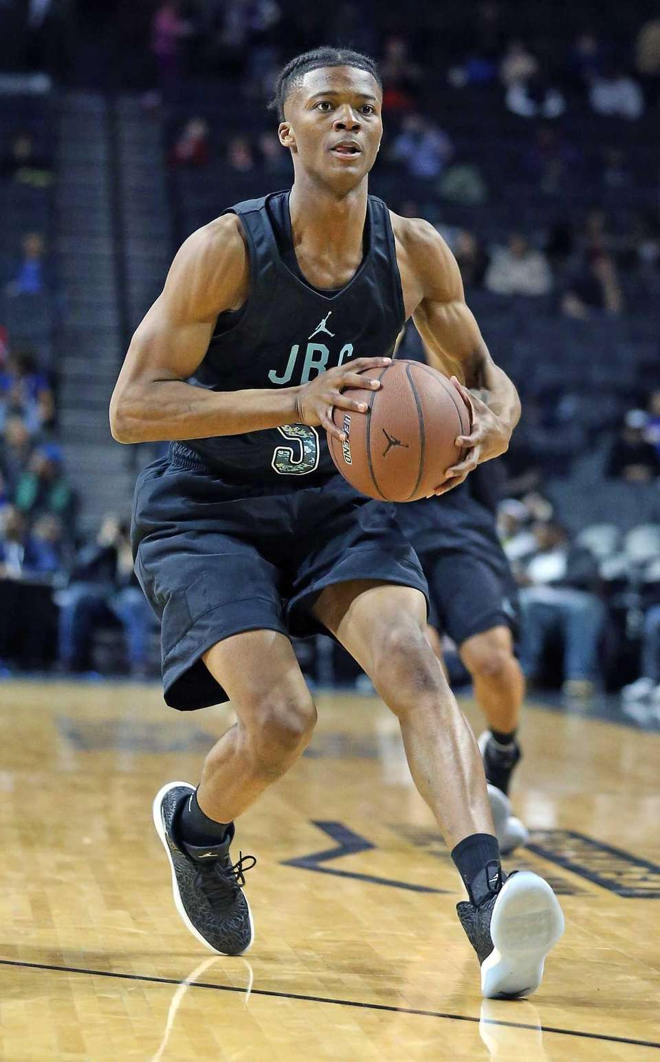 Cheshire Academy's Elijah Pemberton at the Jordan Brand