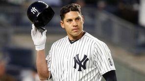 Jacoby Ellsbury of the New York Yankees strikes