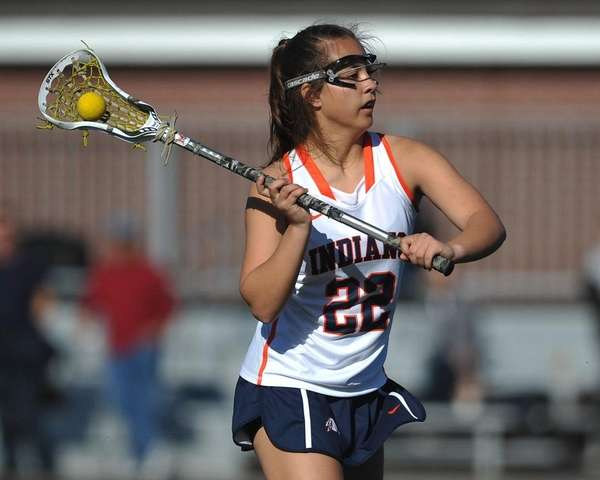 Shea Garcia #22 of Manhasset makes a