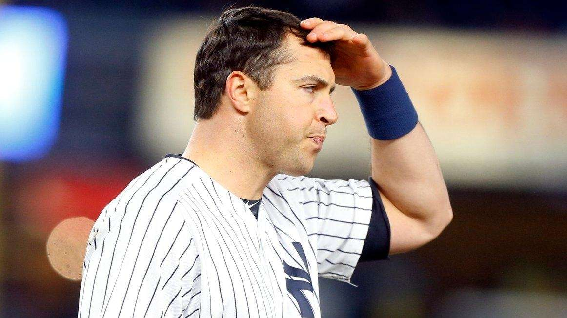 Mark Teixeira of the New York Yankees stands