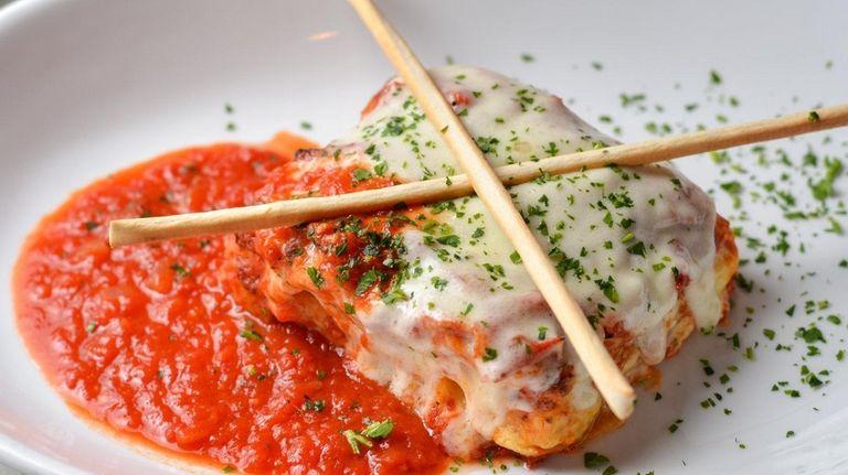 The meatless lasagna at Bacaro Italian Tavern in