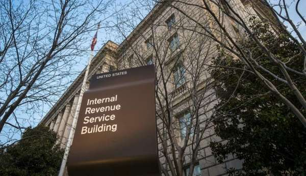 The Internal Revenue Service Headquarters building is seen