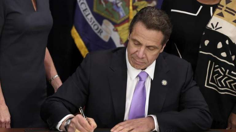 Gov. Andrew Cuomo at the Javits Convention Center,