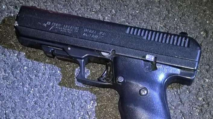 An image of the firearm recovered by police.