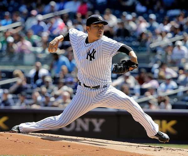 Masahiro Tanaka allowed three runs (two earned) and